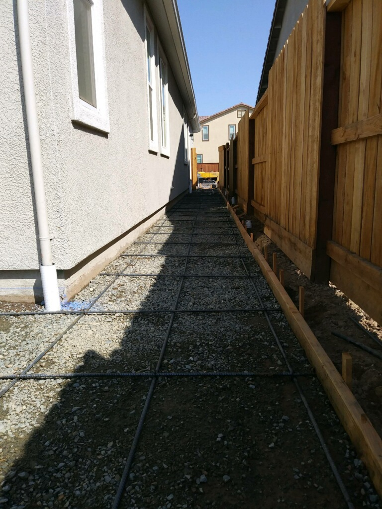 An image of finished concrete work in Fullerton.