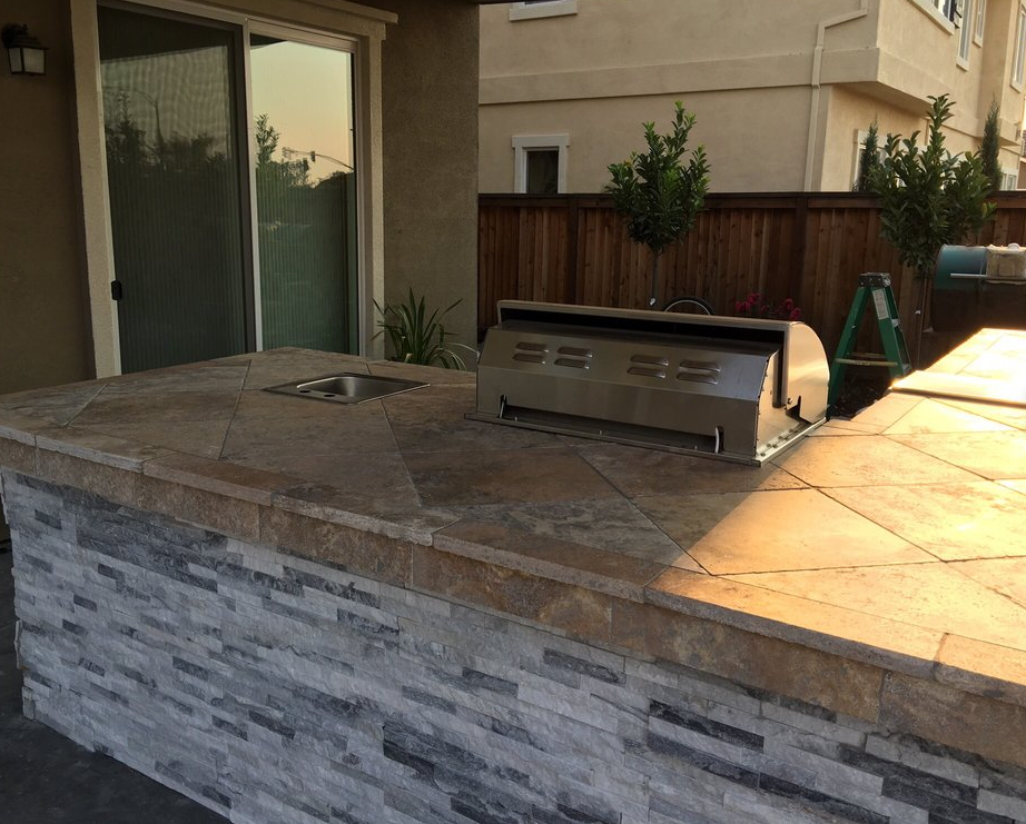 A picture of concrete countertops in Fullerton.