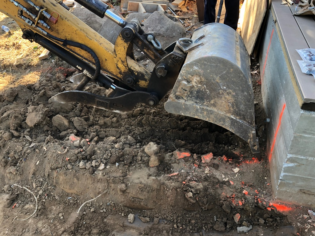 A picture of concrete foundation in Fullerton.