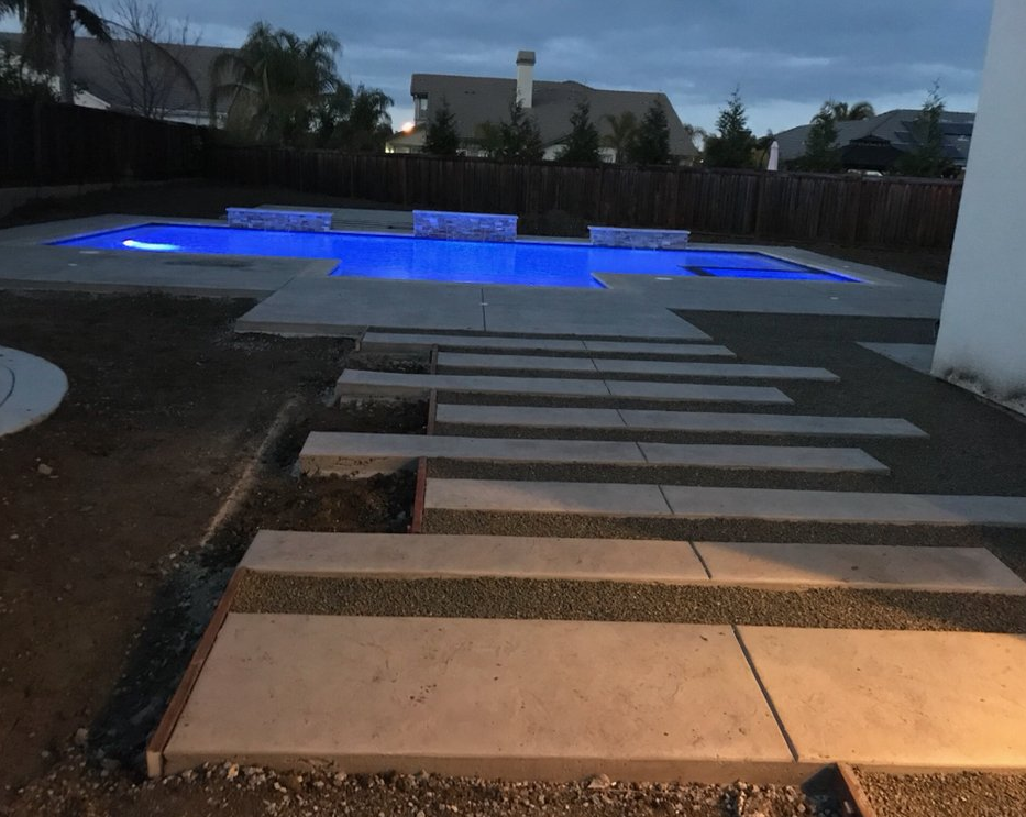 A picture of concrete slab in Fullerton.