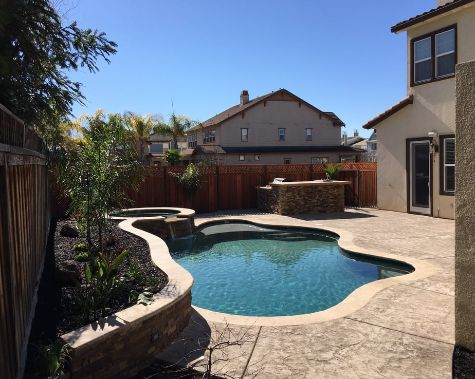 this image shows pool deck concrete fullerton