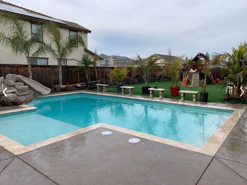 An image of pool deck in Fullerton.