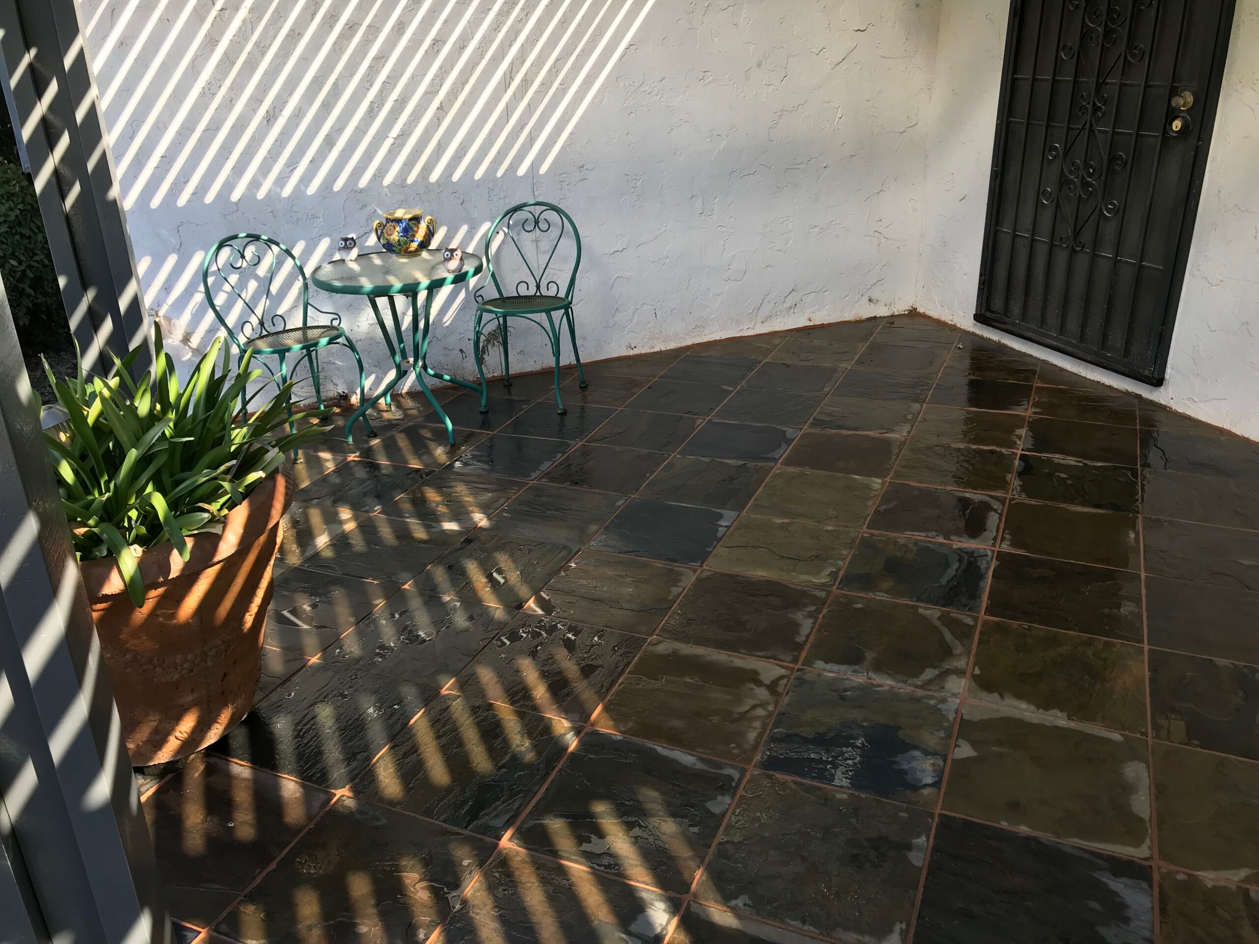 A picture of stamped patio in Fullerton.