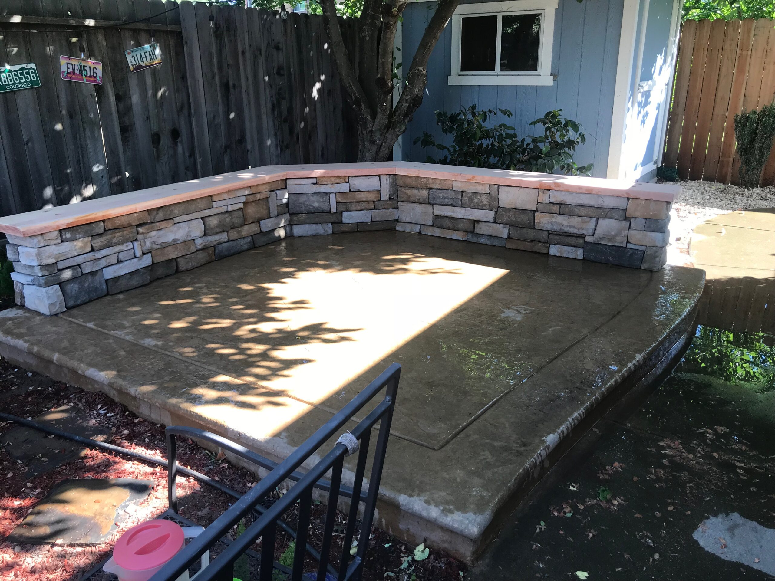 A picture of stone masonry in Fullerton.