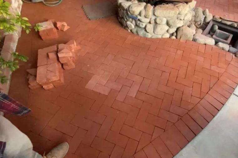 this image shows brick masonry in Fullerton, California