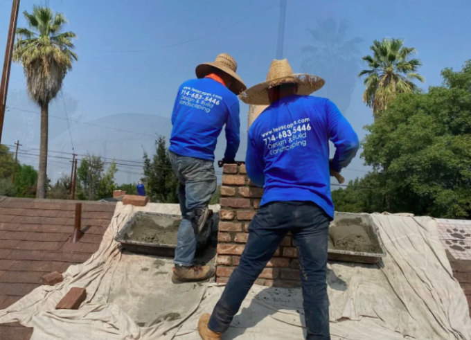 this image shows bricklayer in Fullerton, California