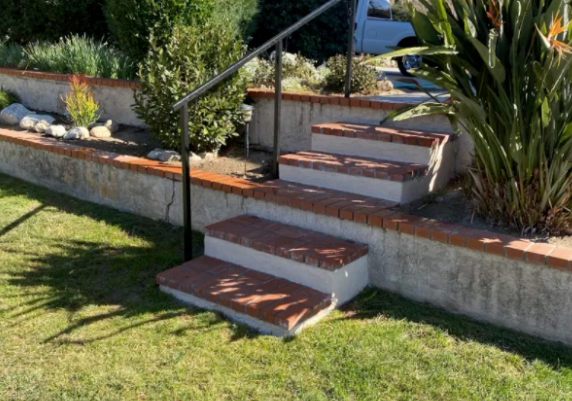 this image shows concrete steps in Fullerton, California