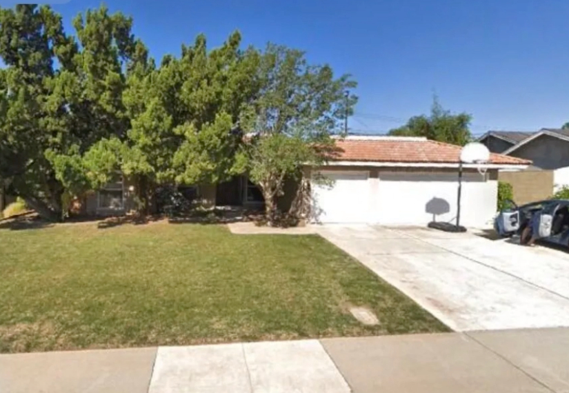 this image shows driveway in Fullerton, California