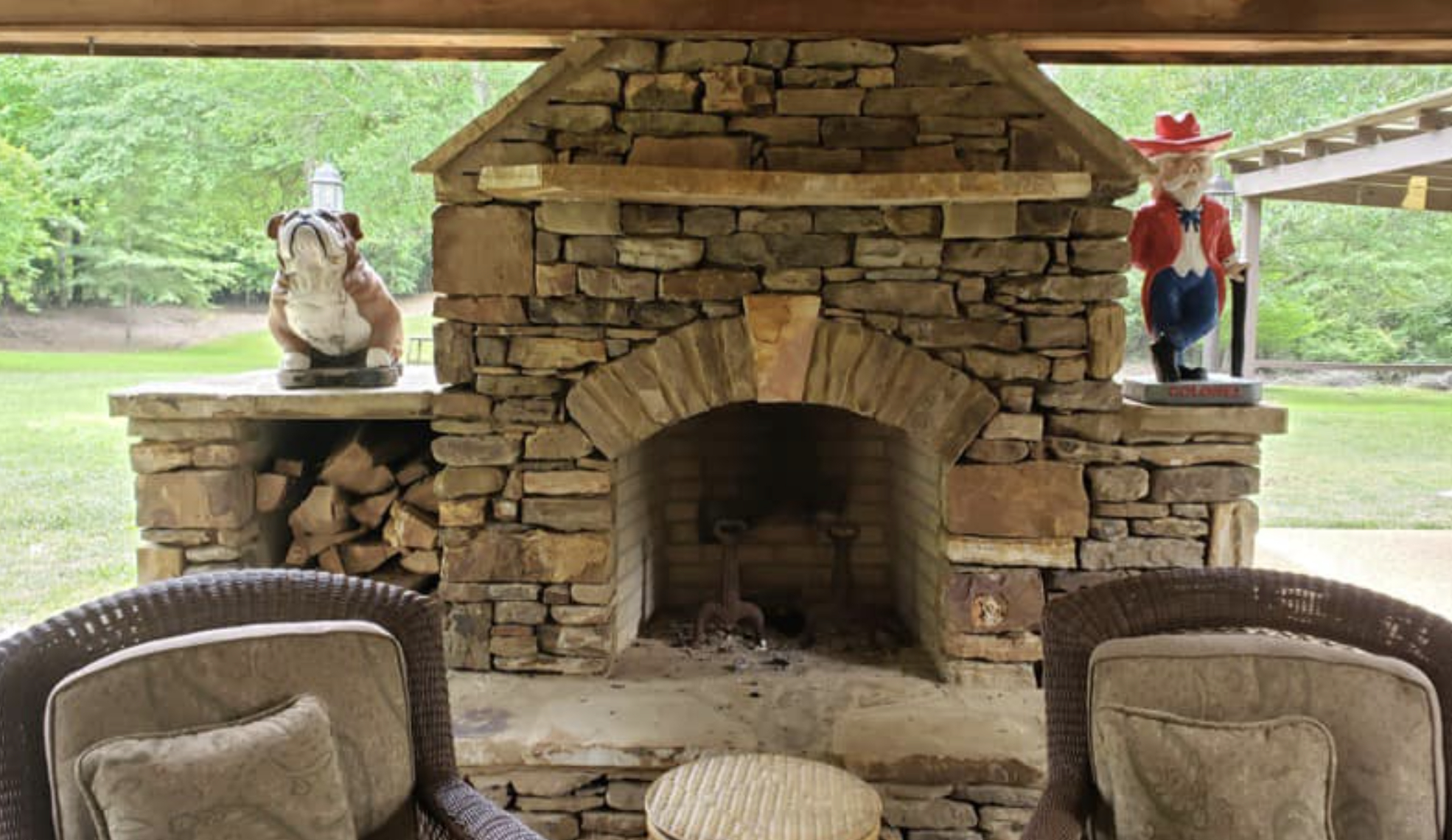 this image shows fireplace in Fullerton, California