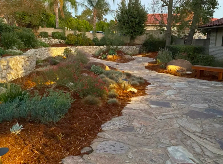 this image shows stone pavements in Fullerton, California
