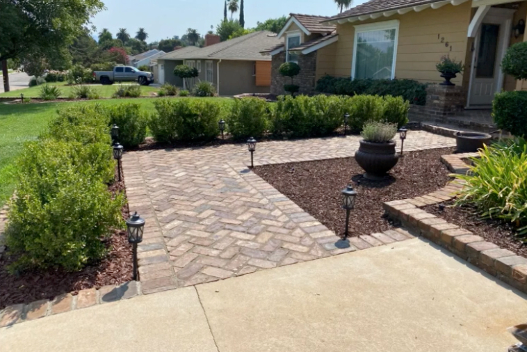this image shows stone pavers in Fullerton, California